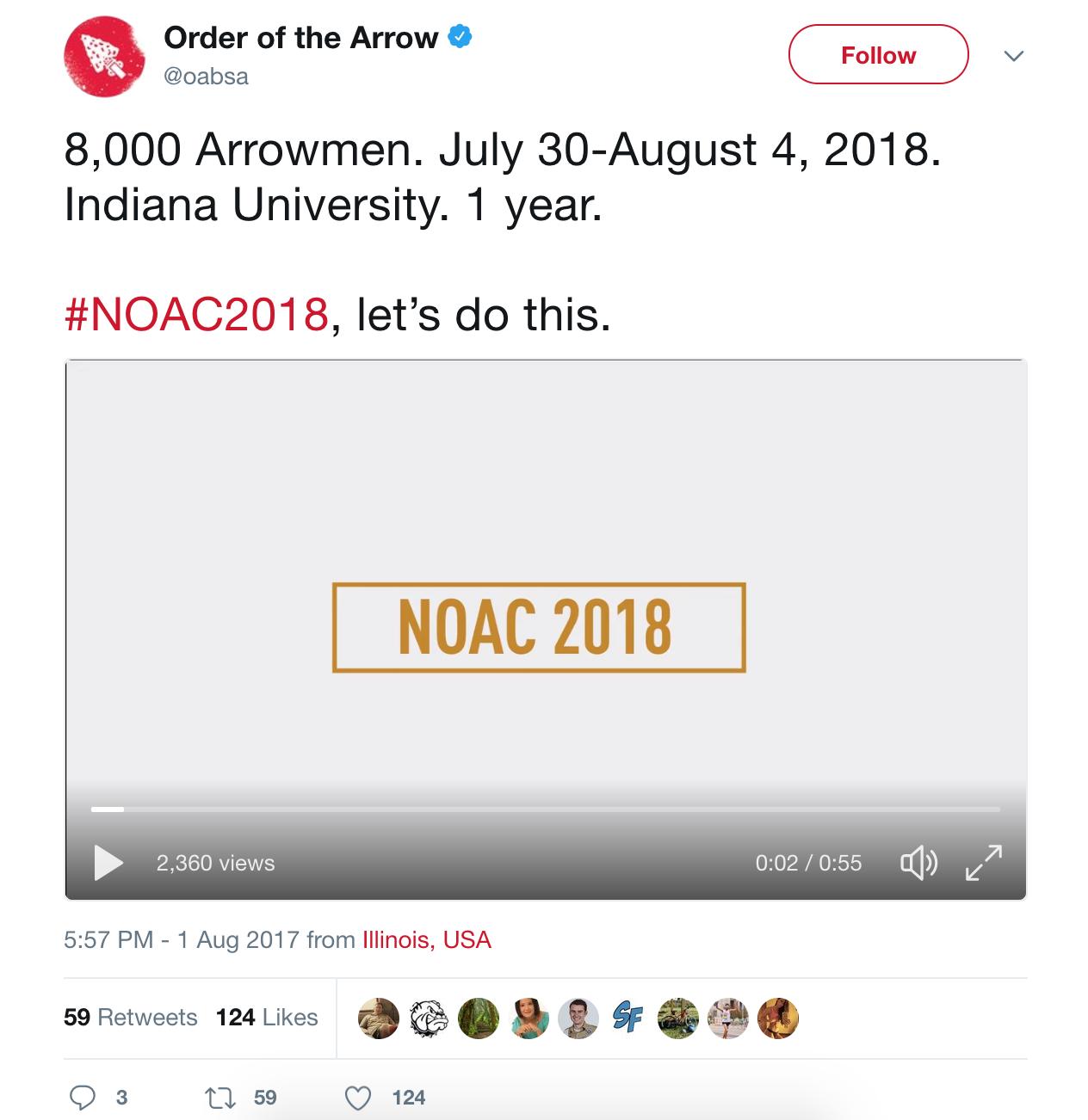 NOAC 2018 Promo OA Twitter